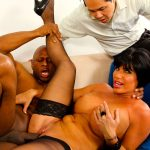 Short-haired old beauty loves banging her handsome black marriage counselor