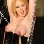 Big knockers on a horny tortured redhead beauty who got pleasured
