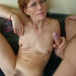 Older woman and her blonde man get a nice session of bonking