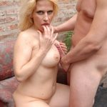 White mature whore loves to get penetrated outdoors by a young cock in different positions
