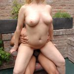 Blonde milf always had a passion for some outdoors big black dick