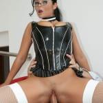 Desirable secretary seeks her husband's donger as she returns home from work