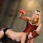 Slutty blonde dominates her girlfriend and gets fucked hard