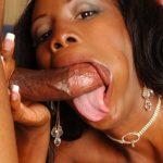 Black cock thirsty slut in white stockings exploring anal pleasures